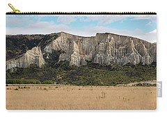 Carry-all Pouch featuring the photograph Clay Cliffs Omarama by Gary Eason