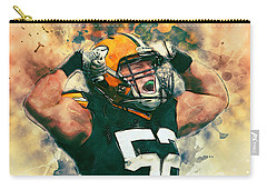 Clay Matthews Carry-all Pouch by Taylan Apukovska