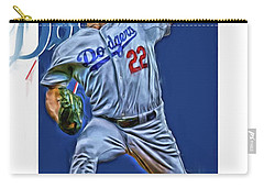 Clayton Kershaw Los Angeles Dodgers Oil Art Carry-all Pouch