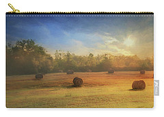 Carry-all Pouch featuring the photograph Clayton Morning Mist by Lori Deiter