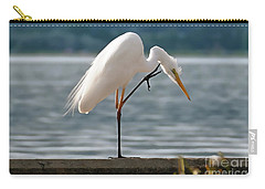 Cleaning White Egret Carry-all Pouch