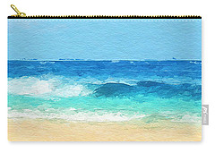 Clear Blue Waves Carry-all Pouch by Anthony Fishburne