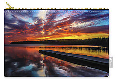 Clear Lake At Sunset. Riding Mountain National Park, Manitoba, Canada. Carry-all Pouch