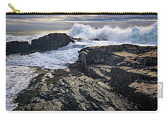 Carry-all Pouch featuring the photograph Clearing Storm At Bald Head Cliff by Rick Berk