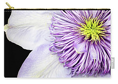 Carry-all Pouch featuring the photograph Clematis Center by Rebecca Cozart