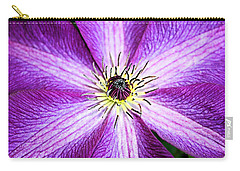 Clematis Close Up Carry-all Pouch by Kristin Elmquist