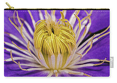 Clematis Macro Carry-all Pouch