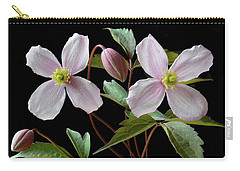 Clematis Montana Rubens Carry-all Pouch by Terence Davis