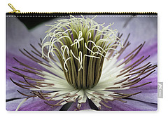 Carry-all Pouch featuring the photograph Clematis World by Michael Friedman