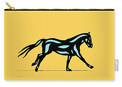 Clementine - Pop Art Horse - Black, Island Paradise Blue, Primrose Yellow Carry-all Pouch