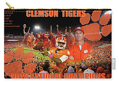 Clemson National Champs Carry-all Pouch