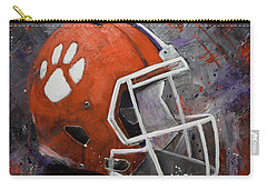 Clemson Tigers Football Helmet Original Painting Carry-all Pouch