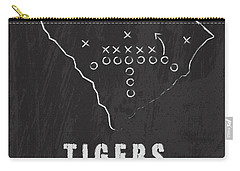 Clemson Tigers / Ncaa College Football Art / South Carolina Carry-all Pouch