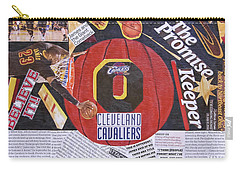 Carry-all Pouch featuring the painting Cleveland Cavaliers 2016 Champs by Colleen Taylor