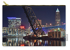 Carry-all Pouch featuring the photograph Cleveland Flats East Bank by Frozen in Time Fine Art Photography