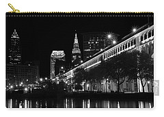 Cleveland In Black And White Carry-all Pouch