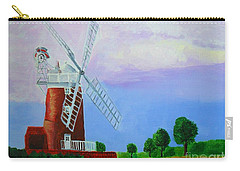 Carry-all Pouch featuring the painting Cley Mill by Rodney Campbell