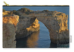 Cliff Arch In Albandeira Beach During Sunset 2 Carry-all Pouch by Angelo DeVal