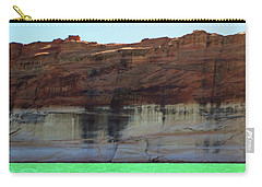 Carry-all Pouch featuring the photograph Cliff At Lake Powell by Christopher Meade