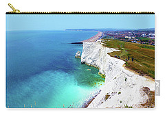 Carry-all Pouch featuring the photograph Cliff Landscape by Francesca Mackenney