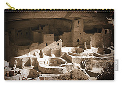 Carry-all Pouch featuring the photograph Cliff Palace Mesa Verde by Kurt Van Wagner