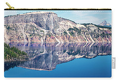 Carry-all Pouch featuring the photograph Cliff Rim Of Crater Lake by Frank Wilson