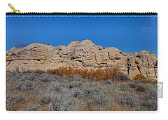 Carry-all Pouch featuring the photograph Cliffs Of Hoodoos by Fran Riley