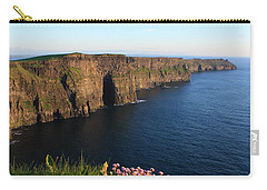 Cliffs Of Moher In Evening Light Carry-all Pouch by Aidan Moran