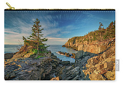 Carry-all Pouch featuring the photograph Cliffs Of Quoddy Head State Park by Rick Berk