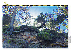 Carry-all Pouch featuring the photograph Cliffside by Adria Trail