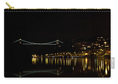 Clifton Suspension Bridge At Night Carry-all Pouch