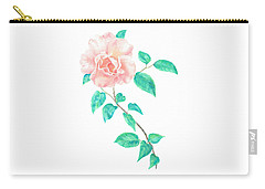 Carry-all Pouch featuring the painting Climbing Rose by Elizabeth Lock