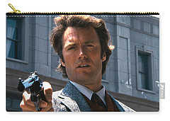 Clint Eastwood With 44 Magnum Dirty Harry 1971 Carry-all Pouch by David Lee Guss