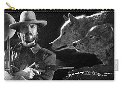 Clint Eastwood With Wolves Carry-all Pouch