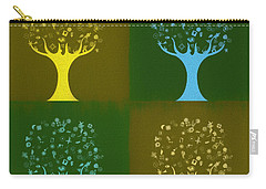 Carry-all Pouch featuring the mixed media Clip Art Trees by Dan Sproul