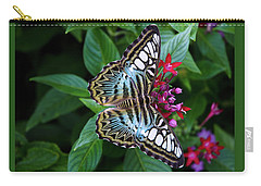 Clipper Butterfly On Star Flower Carry-all Pouch