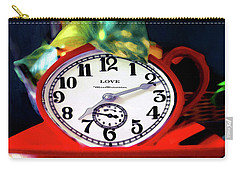 Clock In The Garden Painting 3 Carry-all Pouch
