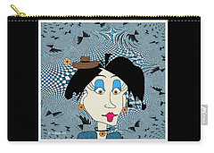 Carry-all Pouch featuring the digital art Cloe by Iris Gelbart