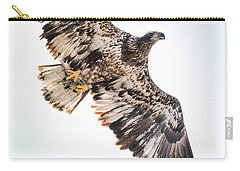 Close Call  With A Bald Eagle Carry-all Pouch by Ricky L Jones