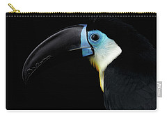 Close-up Channel-billed Toucan, Ramphastos Vitellinus, Isolated On Black Carry-all Pouch