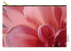 Carry-all Pouch featuring the photograph Close-up Dahlia by Karen Molenaar Terrell
