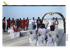 Close Up Kenya Baach Wedding Carry-all Pouch