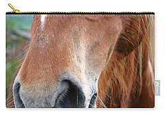 Close - Up Of A Horse Carry-all Pouch