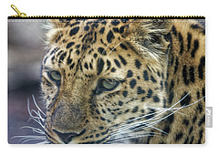 Close Up Of Leopard Carry-all Pouch