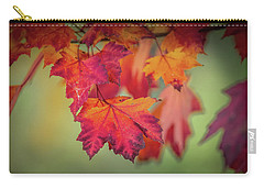 Close-up Of Red Maple Leaves In Autumn Carry-all Pouch