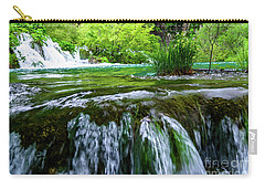 Close Up Waterfalls - Plitvice Lakes National Park, Croatia Carry-all Pouch