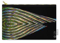 Carry-all Pouch featuring the digital art Closed Eye by Wendy Wilton