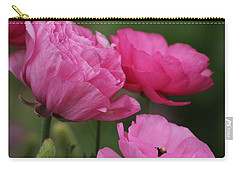 Closeup Deep Peony Pink Ranunculus Carry-all Pouch