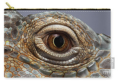 Closeup Eye Of Green Iguana Carry-all Pouch