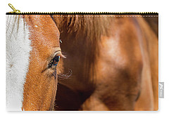 Closeup Horse Eye With Copy Space Carry-all Pouch